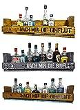 ' Nach mir die Ginflut' SHaBBY ViNTaGe PaLeTTeNReGaL (HxLxT: 23x8ox9,5cm) im Frachtkisten Style aus Echtholz Gin Rum Whisky Wein Regal Wandbar. personalisierbar