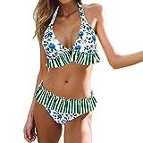 Dehots Sexy Damen Bikini Set Bademode Badeanzüge Bikinis für Frauen Mädchen Bandeau Push Up mit Bügel, EU 36 (Label L), # 05