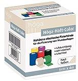 Höga Höga-Haft-Color 6cm x 4m, hautfarben, kohäsive (auf sich selbsthaftend) Fixierbinde,...