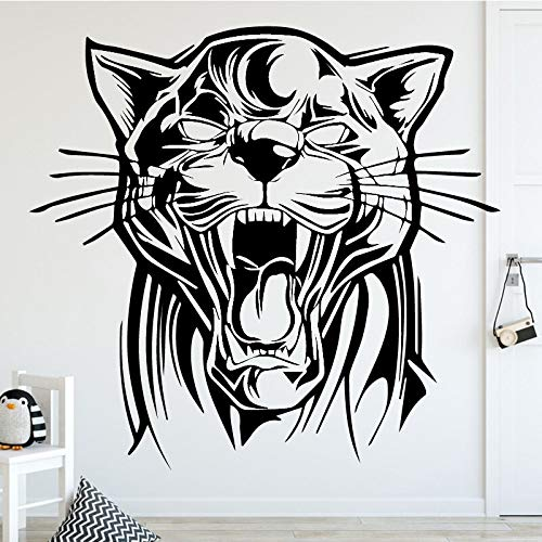 Wopiaol Garten Muursticker Gitls thema Muursticker Bruilende Tiger Home Kid XL 58 cm X 54 cm