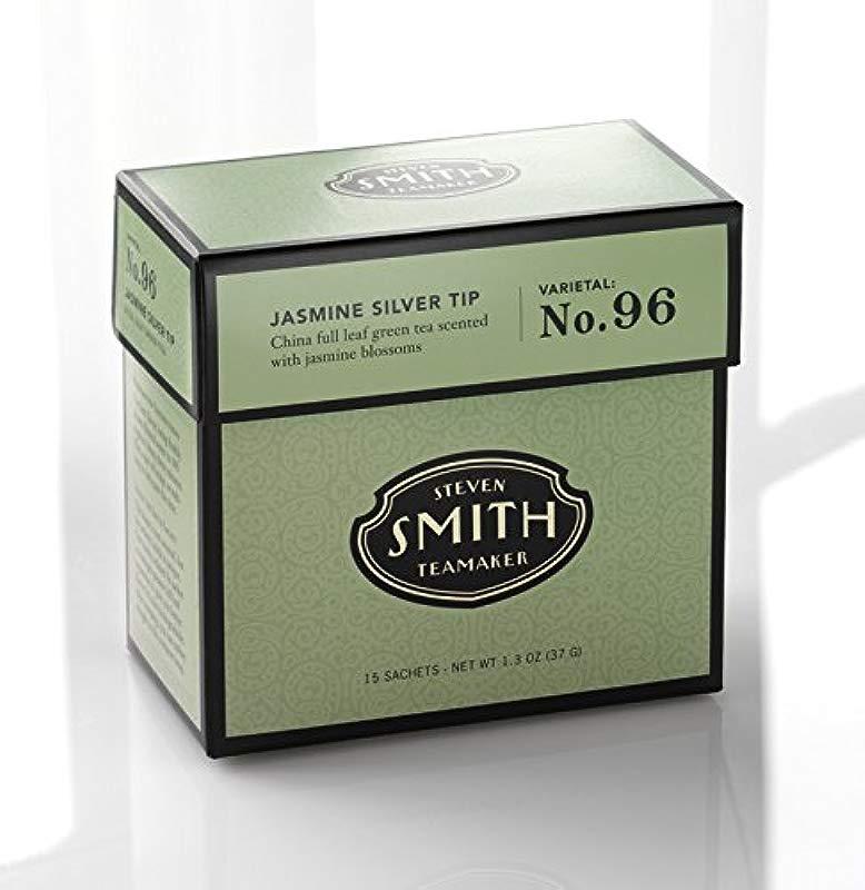Smith Teamaker Jasmine Silver Tip Blend No 96 Full Leaf Green Tea 1 3 Oz 15 Bags