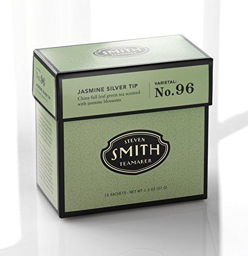 Smith Teamaker Jasmine Silver Tip Blend No. 96 (Full Leaf Green Tea), 1.3 oz, 15 Bags