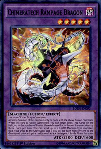 Yu-Gi-Oh! - Chimeratech Rampage Dragon (BOSH-EN093) - Breakers of Shadow - 1st Edition - Super Rare