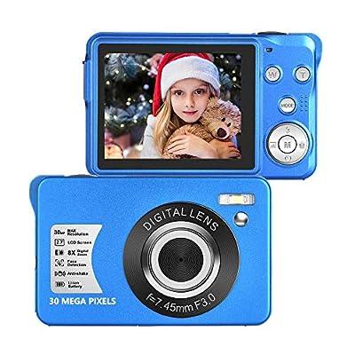 30 Mega Pixels Digital Camera 2.7 Inch HD Camera Rechargeable Mini Camera Students Camera Pocket Digital Camera with 8X Zoom Compact Camera with 32GB SD Card for Photography from SEREE