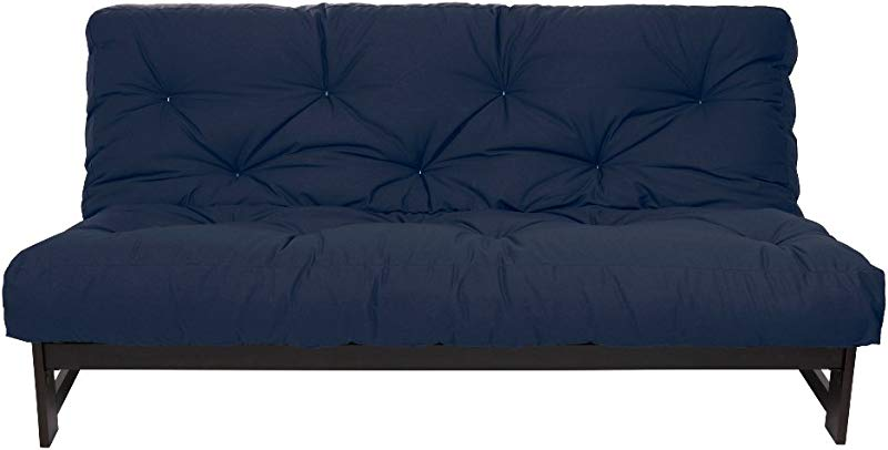 Mozaic Full Size 6 Inch Cotton Twill Futon Mattress Navy