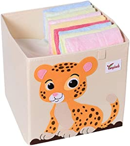 YoLiy Durable Collapsible Jumbo Storage Box Folding Storage Chest Kids Room Tidy Toy Box Perfect For Household Storage  Fabrics Toys For Children  Color Small animals  Size Free size