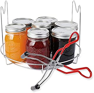 LSUTR Canning Rack,Stainless Steel Canning Jar Rack Canner Rack Canning Rack Canning Tongs for Regular Mouth and Wide Mout...