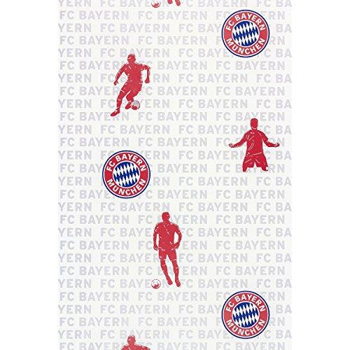 Rasch 703108 FC Bayern Tapete, Weiß