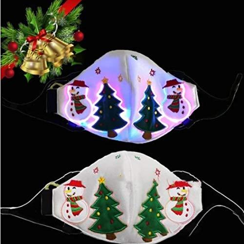 oceansEdge11 Christmas Glow Face Balaclavas Unisex Mouth Cover...