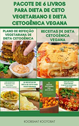 Um Monte De 6 Livros Para Dieta Cetogênica Vegana E Dieta De Ceto Vegetariano : 500 Receitas Da Dieta Cetogênica - Planos De Refeição Para Dieta Ceto - Livro De Receitas Da Dieta Ceto