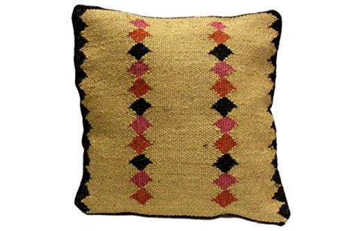 ORNAMENT Kelim-Kissenhülle 40x40cm Handgewebt Kilim Kissen Orient Modern Teppich Rug Patchwork