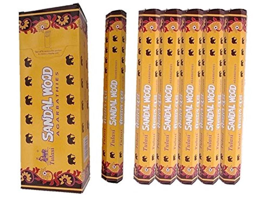 引用炭水化物モジュールTulasi(トゥラシ) /お香スティック/サンダルウッド/1ケース(1箱20本×6箱)
