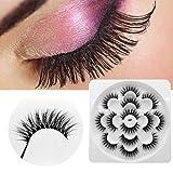 Luxury 7Paire 3D False Lashes Fluffy Strip Eyelashes Long Natural Party Makeup L (Black)
