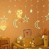 Ghirlanda di luci a LED, a forma di stella, luna, fata, per Natale, romantici, matrimoni, casa, camera da letto, feste, illuminazione calda, bel regalo