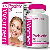 Probiotics for Women 40 Billion CFU - 60 Vegan Capsules - Help Your Digestive and Immune Systems - Lose Weight - Made in USA