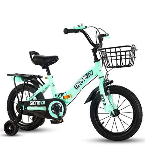CDSL Bicicleta Infantil Bicicleta para Niños 12/14/16 Pulgadas for niños Bicicleta Plegable for Age 2 a 8 años con estabilizadores y Cesta Niños Niñas Equilibrio de Bicicletas