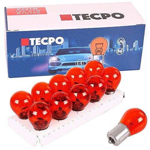 Preisvergleich Produktbild TecPo 10x Blinker Birne PY21W 12V 21W Kugellampe BAU15S Blinkerbirnen Autolampe