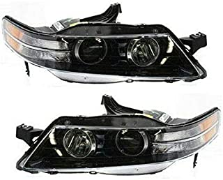 Koolzap For 07-08 TL Type-S Front Headlight Headlamp Halogen Head Light Lamp Set Pair