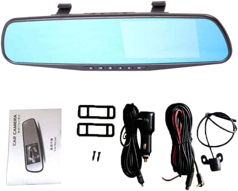 Grebest Car DVR Alarm Systems /& Security Car DVR 4.3 Inch HD 1080P Car DVR Dual Lens Rearview Mirror Camera Driving Dash Cam No Rearview Camera