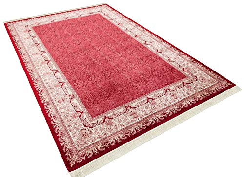 Flycarpets Ahvaz Klassische Viscose/Bambus Teppich - Rot | 290 x 200 cm |