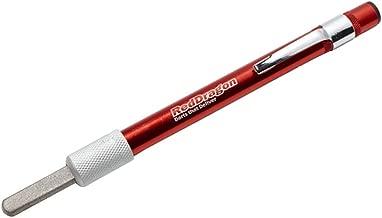 RED DRAGON Spezialist Dartpunkte Tridentpunkte Silber Effekt Standard 32mm mit Rot Tridents 1 Satz pro Packung