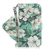 IMEIKONST 3D Gemalt Fall für LG K61 Hülle Niedlich Kreativ Prämie PU Leder Buchstil Karte Brieftasche Magnetisch Flip Ständer Handyhülle für LG K61 Gardenia TX