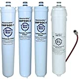 47-55702G2, 47-55704G2, 47-55710G2 Water Factory Compatible Filters and Membrane, KleenWater SQC4 Replacement Reverse Osmosis Water Filters and Module, 4 Set