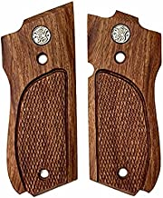 NEW Smith and Wesson S&W Model 39, 52, 439, 539, 639 , 9 Mm, Round Butt Grips Hardwood Checkered Handmade #S3W03