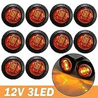 12v/24 12vアンバー/ホワイト/赤色ledサイドマーカーライト表示灯トラックトレーラーキャラバンローリー-10pc2