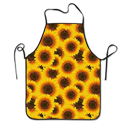 Pag Crane Unisex Schürze Orange Gelb Sonnenblumen Overlock Langlebig Waschbar Verstellbare Schürze Für Küchenmutter Geschenk Kochen Backen Restaurant APN-038