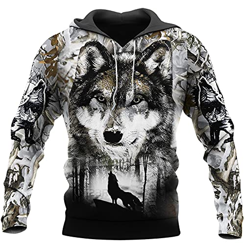 The Wolf Animal Dark Wolf 3D Print Hoodie Hombre Mujer Harajuku Outwear Cremallera Pullover Sudadera Casual Chaqueta Unisex 3D Hoodies L