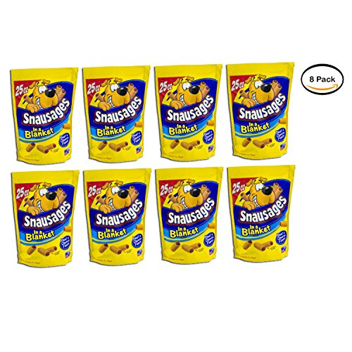 Price comparison product image Snausages PACK OF 8 In a Blanket Beef & Cheese Flavor Dog Treats,  25 Oz.