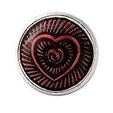andante chunk click-button bottone a pressione (cuore) per bracciali chunk, anelli chunk e altri accessori chunk