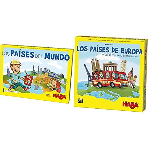 Haba Juego De Mesa, Los Países del Mundo, Multicolor (Habermass H304216) + Juego De Mesa, Los Países De Europa, Multicolor (Habermass H304535)