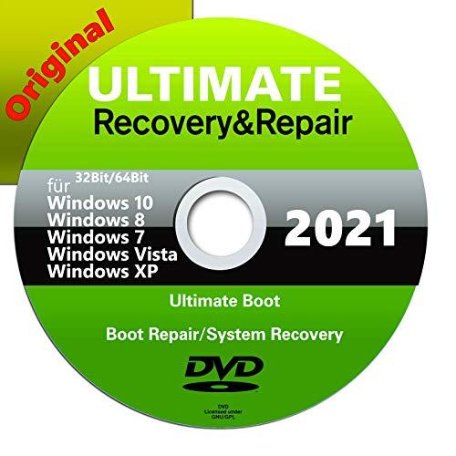 Ultimate Boot & Repair CD/DVD| Windows 10 |8 | 7| Vista| XP ★ PC REPARATUR 2021