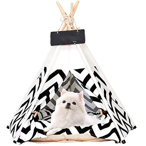 SOOTOP Tienda para Mascotas Casa para Mascotas Tipi para Mascotas con Cojín Casa para Perros Casa para Gatos Tienda para Mascotas Suministros para Mascotas para Perros Gatos Y Otras