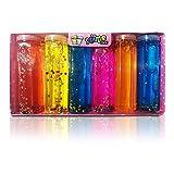 Slime | Kit 6 Colores | Juguete Infantil para Niño/Niña | Bricolaje Creativo Anti estrés | Gelatina con Accesorios Estrellas Perlas Corazones | Maletín Pack Multicolor.