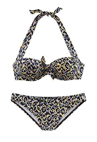 Sunseeker Marken-Balconnet-Bikini schwarz-bunt Größe 38 C-Cup