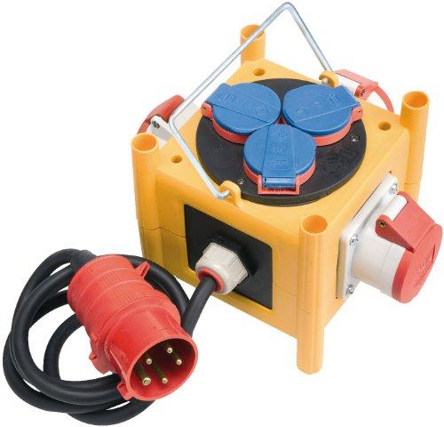 Brennenstuhl compacte stroomverdeler BSV 3 -LS/16 IP44 met aansluitkabel voor bouwplaatsgebruik en outdoor, 1153400
