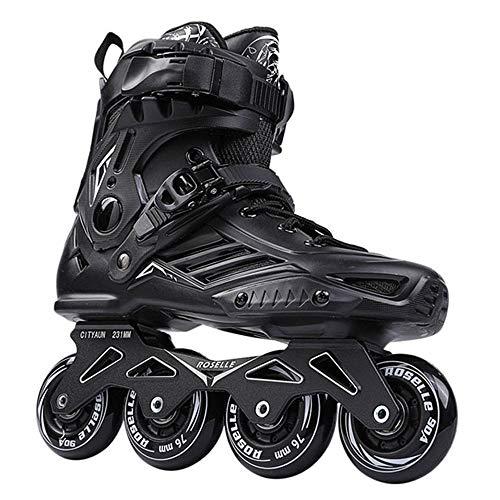 XIAOYUTOU Inline Skates Professionelle Slalom Erwachsene Rollschuhschuhe Sliding Free Skate Größe 35-46 Gut wie Turnschuhe (Color : Black 1, Shoe Size : 36)