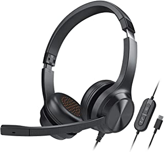 Creative Chat USB On-Ear Headset with Swivel-to-Mute Noise-Cancelling Boom Mic, Mic-Monitoring, SmartComms Kit, Playback a...
