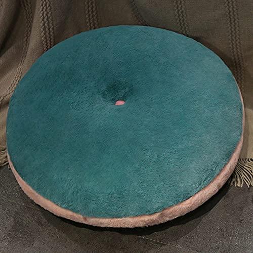 Yinneng Almohadilla de cojín de Socorro con Culo Redondo Grueso Soft Mat-Green_50 * 50 * 15cm