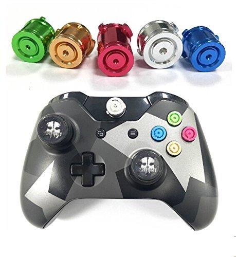 GAMINGER Patronen Aluminium 5er Set farbig für Xbox ONE Microsoft Controller Tuning Mod