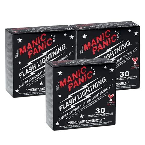 MANIC PANIC 30 Vol Lightning Hair Bleach Kit 3PK