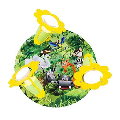 Elobra bambini Lampada plafoniera Giungla aree naturali, legno, verde, a + +