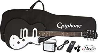 Epiphone Les Paul SL Starter Pack (Includes Mini Amp, Gigbag, Tuner, Picks, and Strap), Ebony
