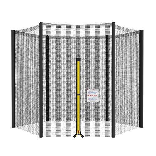 Mehomei Trampolin Ersatznetz 244 305 366 396 427cm 6 8 Stangen, Trampolin Sicherheitsnetz Ersatz Netz, Rundes Schutznetz