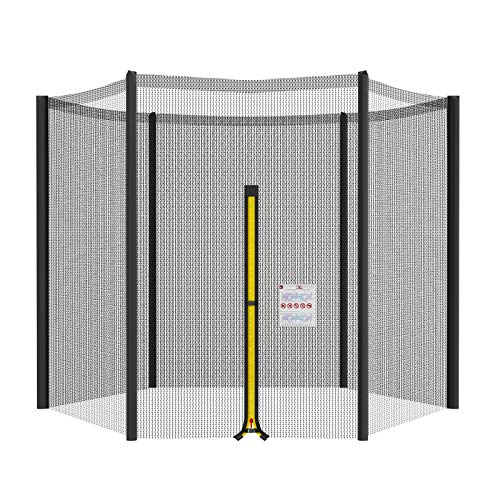 Mehomei Replacement Trampoline Safety Nets Enclosure Surround Netting 8ft 10ft 12ft 13ft 14ft for 6 or 8-Poled Trampolines