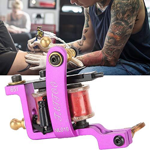 Machine de tatouage Shader, 12 bobines Accessoires de machine de tatouage Machine de tatouage Machine de bobine de pistolet MachineTattoo Shader Machine Supplies for Tattoo Artists