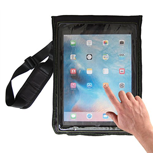 e-Holster Tablet Carrying Case Pouch | Computer Sling Tote with Adjustable Shoulder and Leg Straps | Universal Sleeve (Large - 12.9)